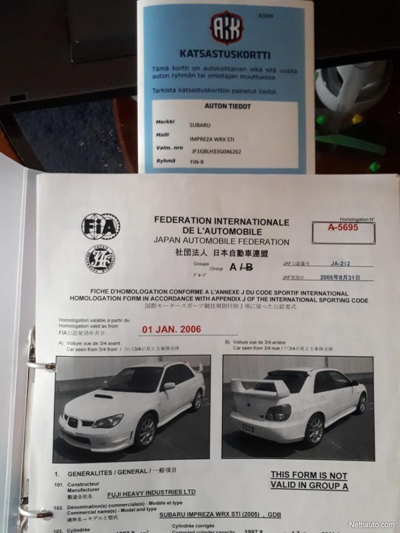 J And D Auto >> Subaru Impreza 2 0 Wrx Sti Awd Sedan 05 Racing Vehicle 2003
