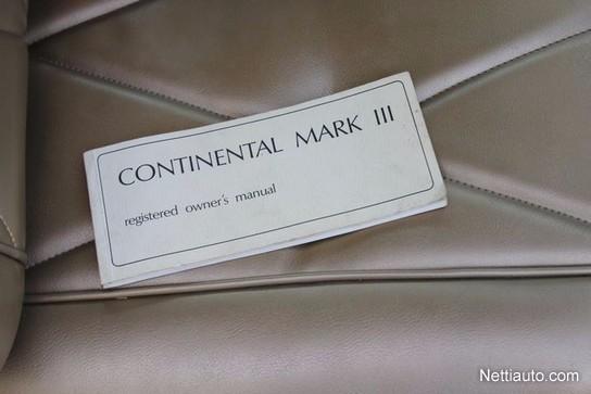 lincoln mark mark 3 continental museokilviss coup 1969. Black Bedroom Furniture Sets. Home Design Ideas