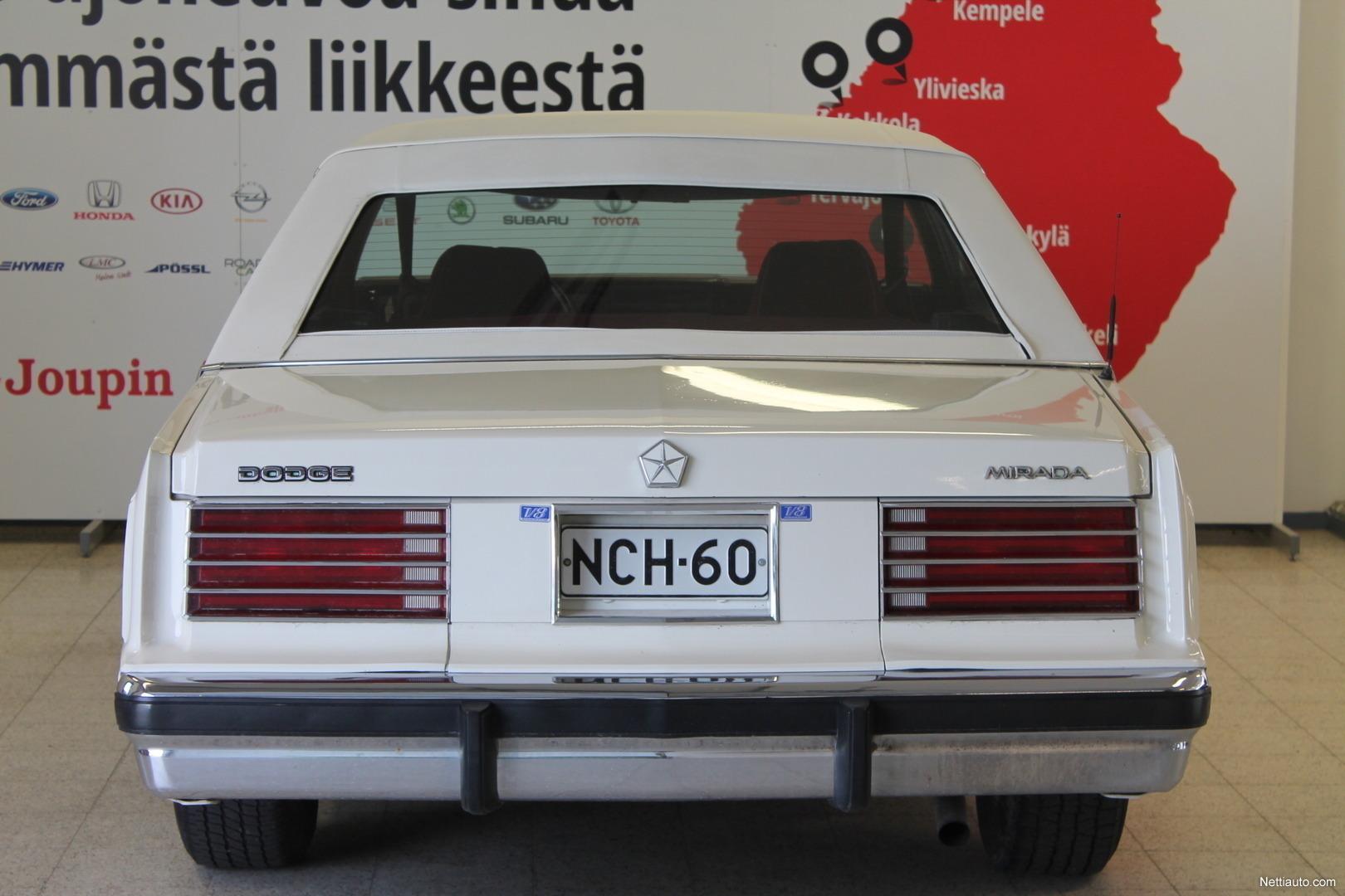 Dodge Mirada 2d Coupe Maksuton Toimitus Sinua Lhimpn 1980 Interior Previous Next
